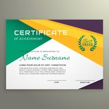 Abstract geometric certificate of achievement template Stock Image