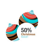 Abstract geometric Christmas banner. Vector illustration with copyspace Royalty Free Stock Photo