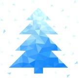 Abstract geometric christmas tree Stock Image