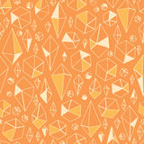 Abstract geometric chrystals seamless pattern Royalty Free Stock Photography
