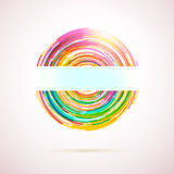Abstract geometric circle logo Royalty Free Stock Photography