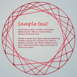 Abstract geometric circle shape Royalty Free Stock Photo