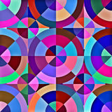 Abstract Geometric Circle Square Pattern Royalty Free Stock Photography