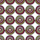 Abstract geometric circles seamless pattern. Vector illustration. Abstract geometric circles seamless pattern Royalty Free Stock Photos