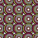Abstract geometric circles seamless pattern. Vector illustration. Abstract geometric circles seamless pattern stock illustration