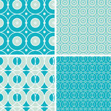 Abstract geometric circles seamless patterns set Royalty Free Stock Image