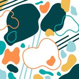 Abstract geometric collage royalty free illustration