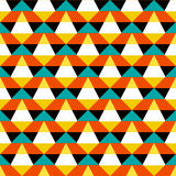 Abstract geometric color blocked pattern Stock Photos