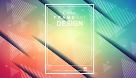 Abstract Geometric colorful background with high saturated gradi Royalty Free Illustration