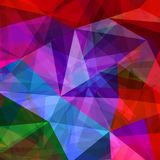 Abstract geometric colorful background with triangles. Vector Royalty Free Illustration