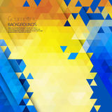 Abstract geometric colorful background. Stock Photo