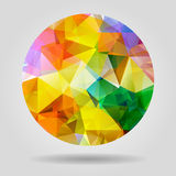 Abstract geometric colorful circular shape from triangular faces Royalty Free Stock Photos