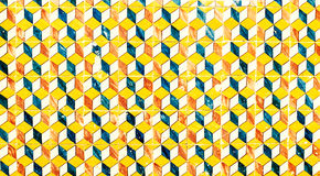Abstract geometric colorful Moroccan, Portuguese tiles, Azulejo, Royalty Free Stock Photos