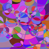 Abstract geometric colorful rainbow mosaic backdrop  with swirls Stock Photos