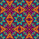 Abstract geometric colorful seamless pattern. Ethnic pattern for fabric. Abstract geometric mosaic vintage seamless pattern ornamental Stock Photography