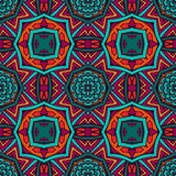 Abstract geometric colorful seamless pattern. Ethnic pattern for fabric. Abstract geometric mosaic vintage seamless pattern ornamental Stock Photos