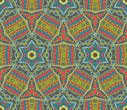 Abstract geometric colorful seamless pattern. Abstract geometric mosaic vintage ethnic seamless pattern ornamental Royalty Free Stock Photos