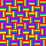 Abstract geometric colorful seamless pattern. Royalty Free Stock Photography