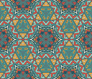 Abstract geometric colorful seamless pattern. Vector geometric mosaic seamless pattern ornamental cell Stock Photo