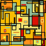 Abstract geometric colorful vector pattern. EPS 8 Stock Photography