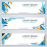 Abstract geometric colorful web banners. Vector templates Stock Images