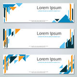 Abstract geometric colorful web banners. Vector templates Stock Photography