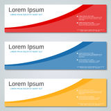 Abstract geometric colorful web banners. Vector templates Royalty Free Stock Photo