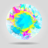 Abstract geometric colourful shape for graphic design Stock Photography