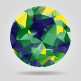 Abstract geometric colourful spherical shape from triangular fac Stock Images