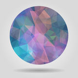 Abstract geometric colourful spherical shape from triangular fac Royalty Free Stock Image