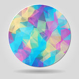 Abstract geometric colourful spherical shape with triangular pol Stock Image