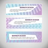 Abstract geometric colourful web banner template set. stock images