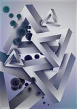 Abstract geometric composition 2 Stock Images