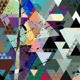Abstract geometric composition Stock Images