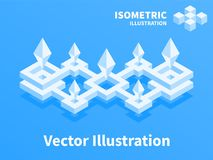 Abstract geometric composition. 3d pixel art. Abstract geometric composition. 3d pixel art illustration Stock Photography