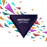 Abstract geometric composition with 3d shapes and copy space. 3 demensions shapes abstract composition Royalty Free Stock Images
