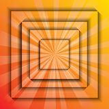Orange card burst Royalty Free Stock Photos