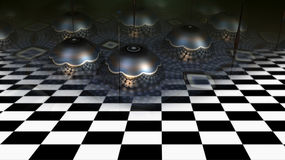 Abstract geometric composition made in 3d software Royalty Free Stock Photography