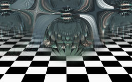 Abstract geometric composition made in 3d software Stock Images