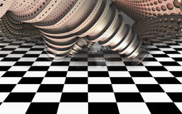 Abstract geometric composition made in 3d software Royalty Free Stock Photos