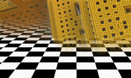 Abstract geometric composition made in 3d software Royalty Free Stock Image