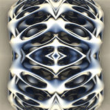 Abstract geometric composition made in 3d software Royalty Free Stock Photo