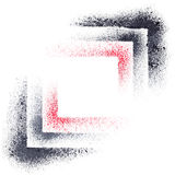 Abstract geometric composition. Stencil squares - abstract geometric background -- raster illustration royalty free illustration