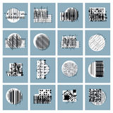 Abstract geometric compositions set, vector backgrounds collecti Stock Images
