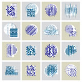 Abstract geometric compositions set, vector backgrounds collecti Stock Photos