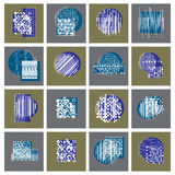 Abstract geometric compositions set, vector backgrounds collecti Stock Image