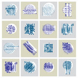Abstract geometric compositions set, vector backgrounds collecti Royalty Free Stock Image
