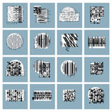Abstract geometric compositions set, vector backgrounds collecti. On Royalty Free Stock Image