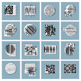 Abstract geometric compositions set, vector backgrounds collecti. On Royalty Free Stock Images