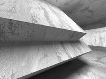 Abstract geometric concrete architecture background Royalty Free Stock Photography